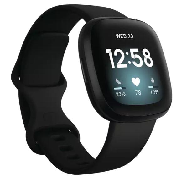 Bild zu FITBIT Versa 3 Smartwatch Aluminium Silikon, S, L, Black/Black ab 158,06€ (VG: 199€)