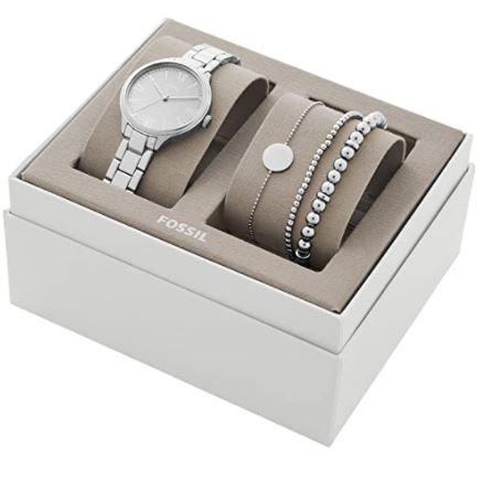Bild zu Fossil Damenuhr Suitor BQ3542ET + passende Armbänder (Silber oder Rose-Gold) für zusammen nur 48,30€ (VG: 139€)