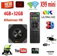 Bild zu X99 mini Android 9.0 TV Box mit Fernbedienung für 26,95€ (32GB) oder mit 64GB für 29,99€