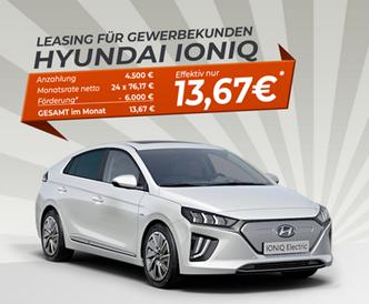 Bild zu Hyundai Ioniq für rechnerisch 13,67€/Monat als Gewerbekunde (24 Monate, 10.000km/Jahr, LF = 0,12)