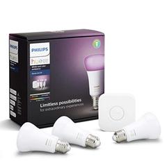 Bild zu [nur heute] Philips Hue White and Color Ambiance LED Starter Kit 3xE27 + Bridge Bluetooth für ~ 103€ (VG: 138,75€)