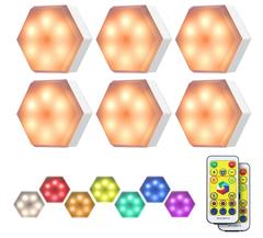 Bild zu KINGSO LED RGB Schrankleuchten mit Fernbedienung für 13,99€