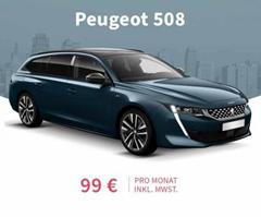 Bild zu Peugeot 508 SW GT (Autoamtik, Navi, Voll LED) für 99€/Monat (24 Monate Laufzeit, 10.000km/Jahr, LF = 0,34)