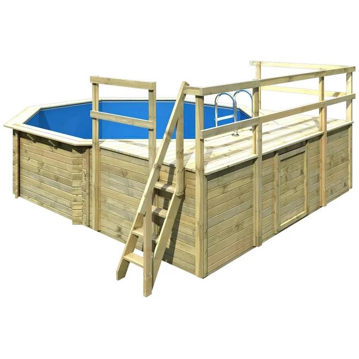 Bild zu Karibu Achteckpool Holzpool Größe 2 Set D (428cm x 4,28cm x 1,24m) für 3.185,99€ (Vergleich: 3.569,94€)