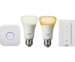 Bild zu Philips Hue White Ambiance E27 Bluetooth Starter Set mit Bridge und Dimmschalter für 74,90€ (Vergleich: 119,90€)