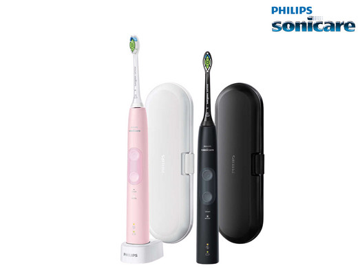 Bild zu Elektrische Zahnbürste Sonicare HX6830/34 ProtectiveClean 4500 im Doppelpack für 105,90€ (Vergleich: 140,99€)