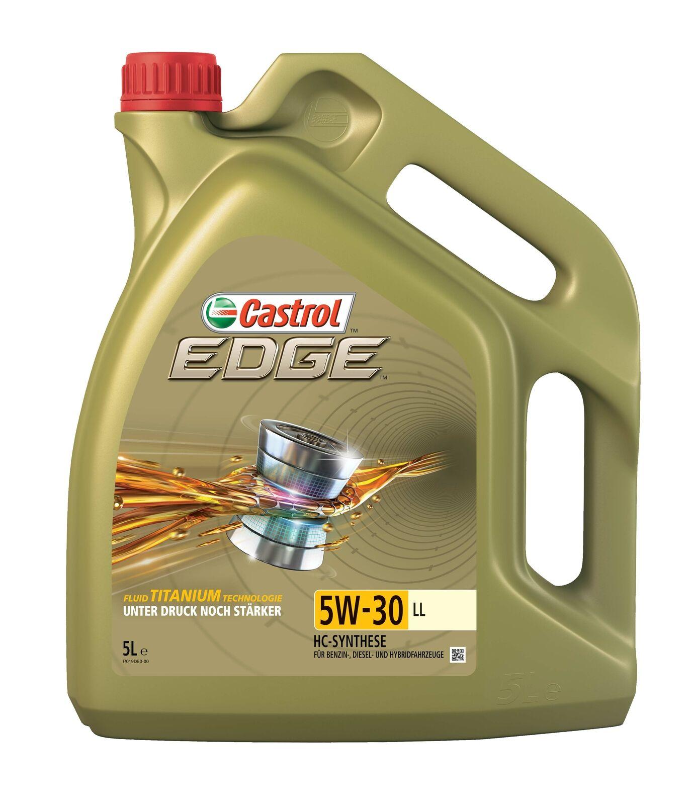 Bild zu 5 Liter Castrol Motoröl Edge Titanium 5W-30 LL für 34,99€ (Vergleich: 39,95€)