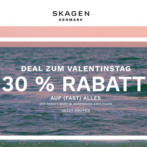 Bild zu Skagen: 30% Rabatt auf das alle Artikel im Shop
