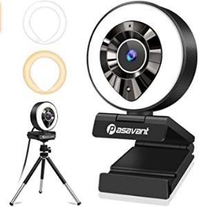 Bild zu Pasavant Full HD 1080P Webcam mit Mikrofon, Ringlicht & Stativ für 26,99€ inkl. Versand