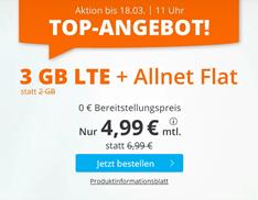 Bild zu Sim.de: o2-Netz mit 3GB LTE Datenflat, SMS und Sprachflat für 4,99€/Monat – optional ohne Mindestvertragslaufzeit