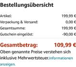 Amazon de - Bezahlvorgang