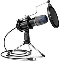 ELEGIANT USB PC Mikrofon Computer Kondensator Mikrofon mit Schalter DSP Microphone für Podcast, Studi[...]