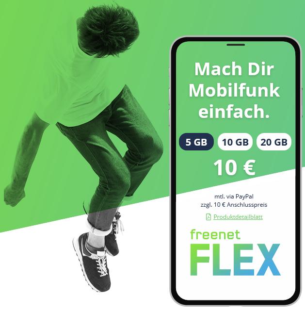 Bild zu [Top] freenet FLEX 20 GB LTE Tarif im Vodafone Netz für 0€ + 10€ AG bis zum 05.05.