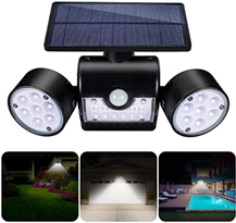 GIANTARM Solarlampen für Außen mit Bewegungsmelder 30 LEDs Wasserdicht IP65 Solarleuchte Garten 360° [...]