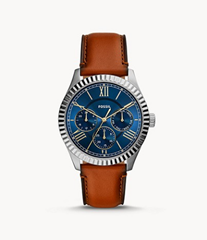 Bild zu Fossil: 60% Rabatt auf ausgewählte Damen und Herren-Uhren + 15% NL-Gutschein, z.B. Herrenuhr Chapman Multifunktion Leder für 43,86€