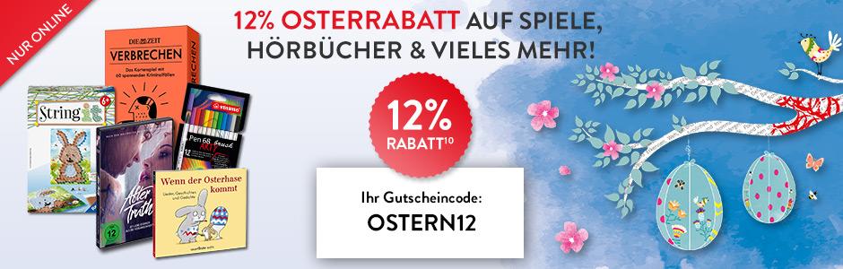 Bild zu Hugendubel: 12% Oster-Rabatt auf Spiele, Hörbücher und mehr