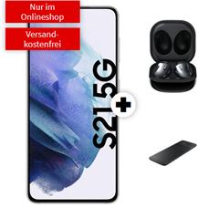 Bild zu SAMSUNG Galaxy S21 5G & Samsung Galaxy Buds Live & Samsung Trio Charger für 129€ mit 10GB LTE Datenflat, SMS und Sprachflat im Telekom Netz für 29,99€/Monat