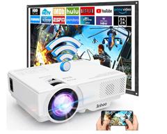 Bild zu MVV WiFi Beamer, 5500 Lumen, 1080P Full HD für 72,77€