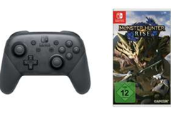 Bild zu Nintendo Switch Pro Controller inkl. Monster Hunter Rise – [Nintendo Switch] für 90€