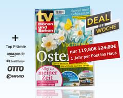 """Bild zu Jahresabo """"TV Hören und Sehen"""" für 119,80€ + bis zu 110€ Gutschein"""