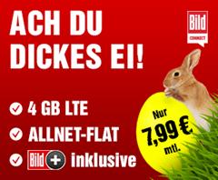 Bild zu o2 Tarif mit 4GB LTE Datenflat, SMS und Sprachflat inkl. Bild+ für 7,99€ im Monat – optional monatlich kündbar