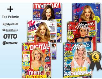 Bild zu Deutsche Post Leserservice mit günstigen TV Zeitschriften, so z.B. TV Digital XXL für 62,60€ mit bis zu 60€ Prämie