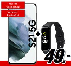 Bild zu SAMSUNG Galaxy S21 5G & Samsung Galaxy Fit2 für 49€ mit 10GB LTE Datenflat und Sprachflat im Telekom Netz für 29,99€/Monat