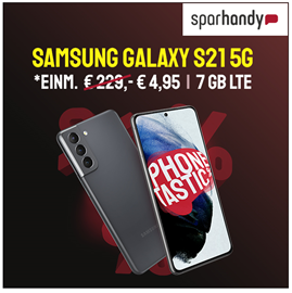 Bild zu Samsung S21 5G für 4,95€ mit 7GB LTE Datenflat, SMS und Sprachflat  im Vodafone Smart L für 29,99€/Monat oder mit 15GB für 34,99€/Monat