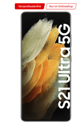 Bild zu Samsung Galaxy S21 Ultra 5G für 149€ mit o2 Free L Boost (120GB 5G/LTE Datenflat, SMS und Sprachflat) für 44,99€/Monat + 12 Monate Netflix, Sky oder o2 TV