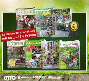"""Bild zu Gartenzeitschriften günstig beim Leserservice der Deutschen Post, so z.B. das Jahresabo """"GartenFlora"""" für 49,60€ mit bis zu 45€ Prämie"""