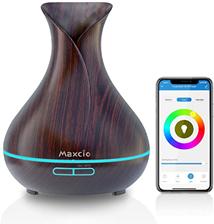Maxcio Smart Aroma Diffuser 400ml, Ätherische Öl WLAN Ultraschall Duftlampe Luftbefeuchter, Kompatibe[...]