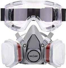 Bild zu NASUM Atemschutzmaske M401 mit Schutzbrille für 18,19€