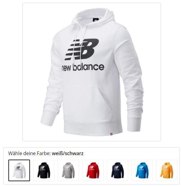 Bild zu New Balance Essentials Stacked Logo Po Hoodie in 7 Farben (Gr.: S – XXL) für 35,95€ (VG: 43,98€)