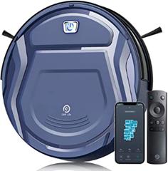 Bild zu OKP Saugroboter (2.100pa Saugleistung, Kompatibel mit Alexa, per App steuerbar, Fernbedienung) für 109,99€