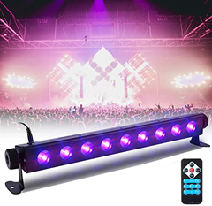 UV Beleuchtung SOLMORE 3 Modi LED Schwarzlicht Bühnenlicht Bühnenscheinwerfer mit Fernbedienung für S[...]