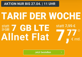 Bild zu WinSIM: 7GB (3 + 4 GB) LTE Datenflat + Allnet Flat im o2 Netz für 7,77€/Monat – optional monatlich kündbar