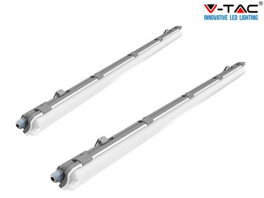 Bild zu 120 cm V-Tac LED-Röhre (18 Watt) im Doppelpack für 30,90€ (Vergleich: 43,96€)