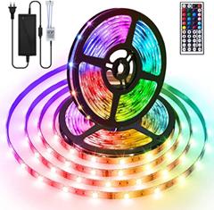 Bild zu AMBOTHER RGB LED Streifen mit Fernbedienung (2x5M, 300 (2×150) LEDs, selbstklebend) für 14,84€