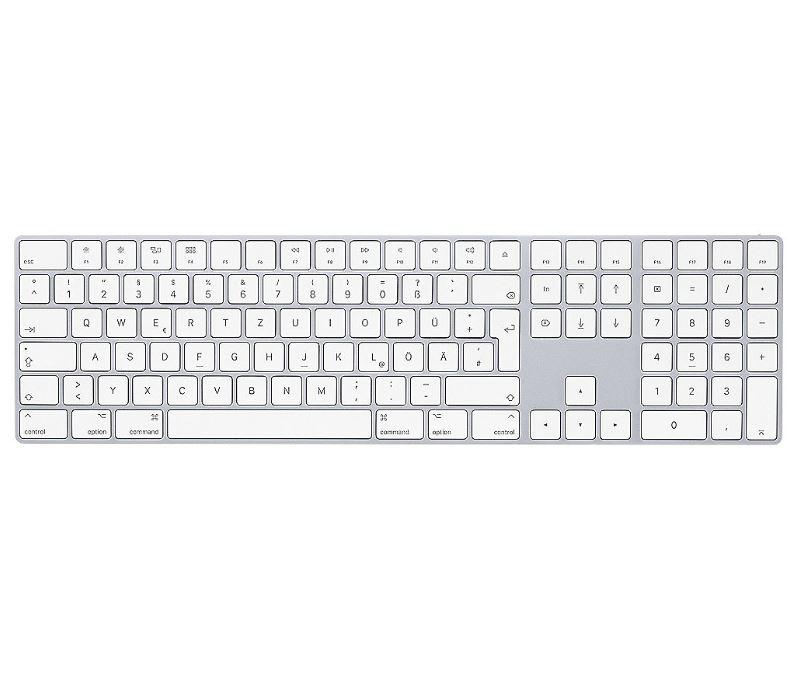 Bild zu Apple Magic Keyboard mit Ziffernblock Tastatur silver MQ052D/A für 99€ (VG: 122,89€)