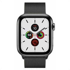 Apple Watch Series 5 GPS LTE 44mm Edelstahl Space Schwarz Milanese Band NEU eBay