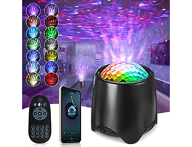 Elfeland LED Sternenhimmel Projektor, Bluetooth Sternenlicht Projektor Galaxy Light Ozeanwellen Stern[...]