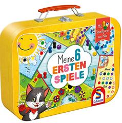 Bild zu [Prime] Schmidt Spiele 40591 – Meine 6 ersten Spiele im Metallkoffer, Kinderspielesammlung für 10,69€