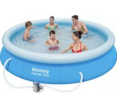 Bild zu Bestway Fast Set Pool (Ø 366 x 76 cm) Pool Set mit Filterpumpe für 61,88€ (VG: 77,10€)