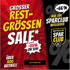 Bild zu SportSpar: 55% Extra Rabatt auf ausgewählte Artikel (SparClub Mitglieder erhalten 66% Rabatt)