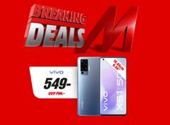 Bild zu MediaMarkt Breaking Deals so z.B. VIVO X51 5G 256 GB Alpha Grey Dual SIM für 549€ (VG: 774,99€)