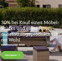 Bild zu [noch bis Montag 9 Uhr] Mömax: 30% bei Kauf eines Möbelstücks und eines Raumausstattungsproduktes eurer Wahl