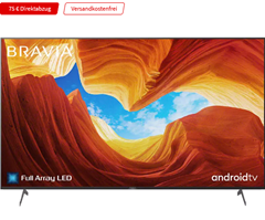 Bild zu SONY KE-65XH9005 LED TV (Flat, 65 Zoll / 164 cm, UHD 4K, SMART TV, Android TV) für 964€ inkl. Versand (VG: 1.178,90€)
