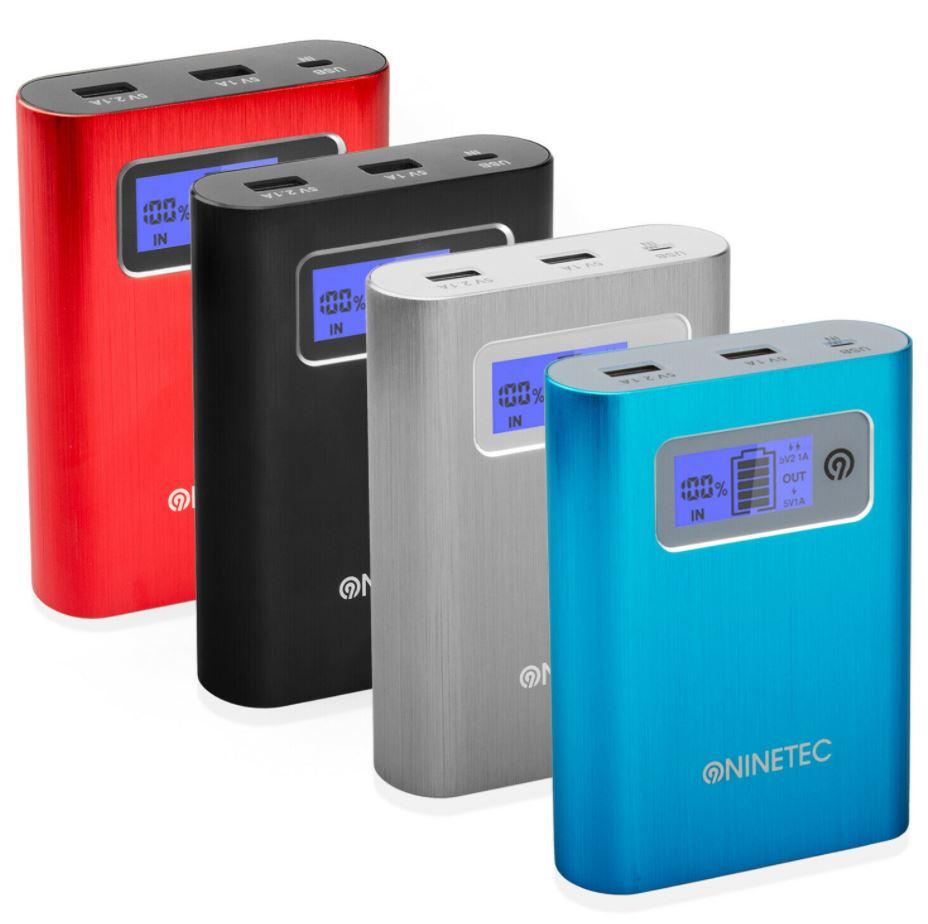 Bild zu NINETEC 2in1 PowerDrive 64GB Flash Speicher inkl. 13.400mAh Power Bank für 14,99€ (VG: 24,99€)