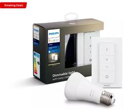 Bild zu Philips Hue White E27 Wireless Dimming Bluetooth Starter Kit (Warmweiß, 9W, 806lm, 2700K) für 18,49€ inkl. Versand (VG: 21,60€)