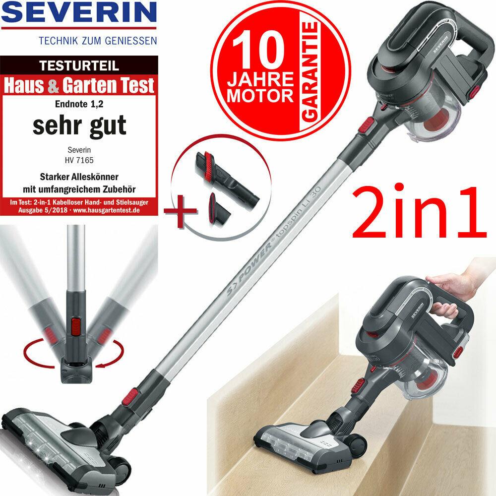 Bild zu 2in1 Akku Bodenstaubsauger Severin HV7165 für 124€ (Vergleich: 149,99€)